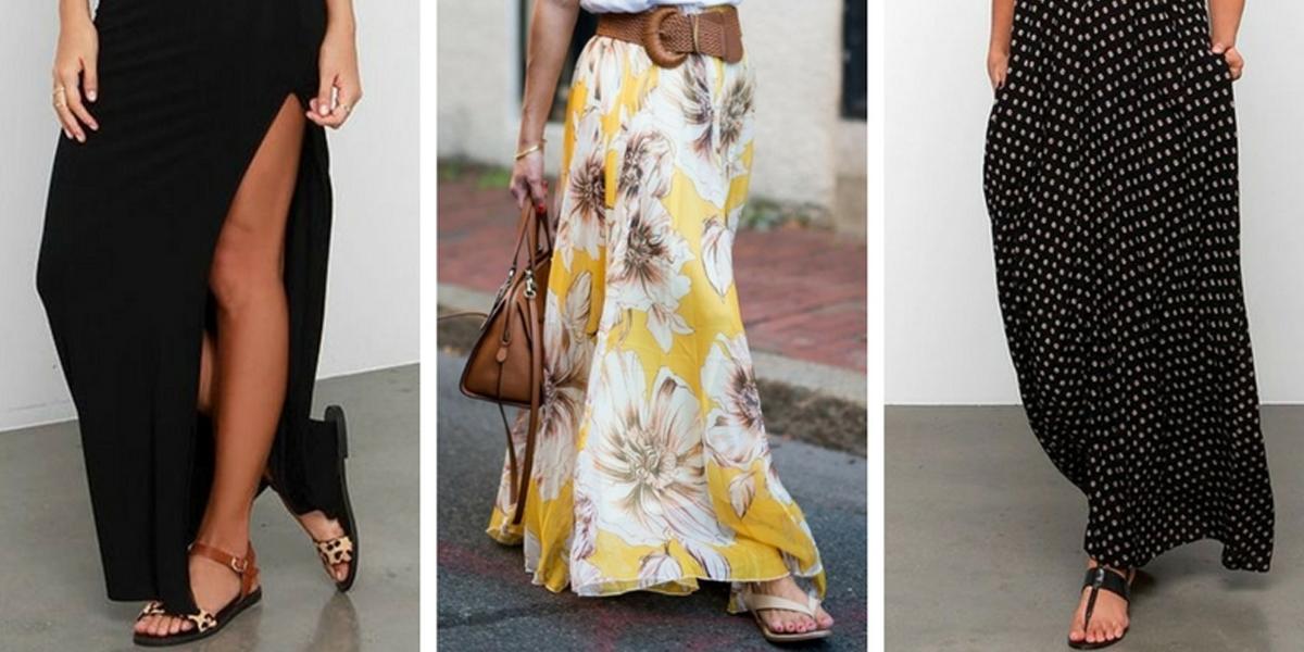 veja como combinar calçados com saias e vestidos longos