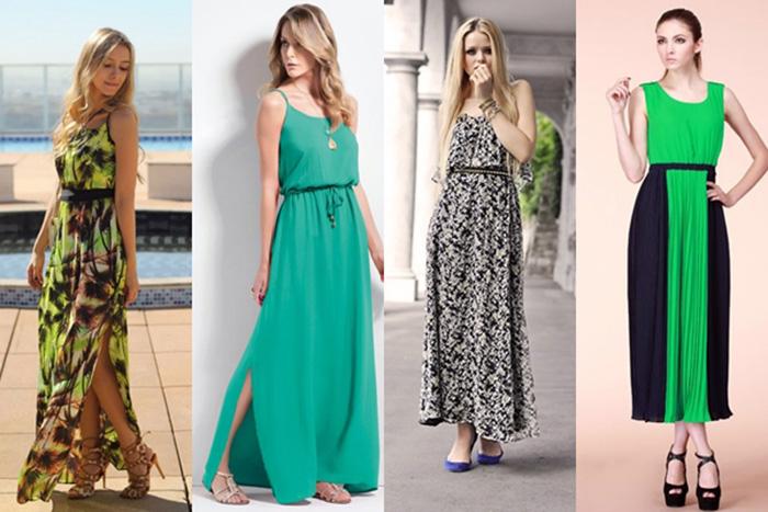 aprenda a combinar calçados e vestidos longos e saias