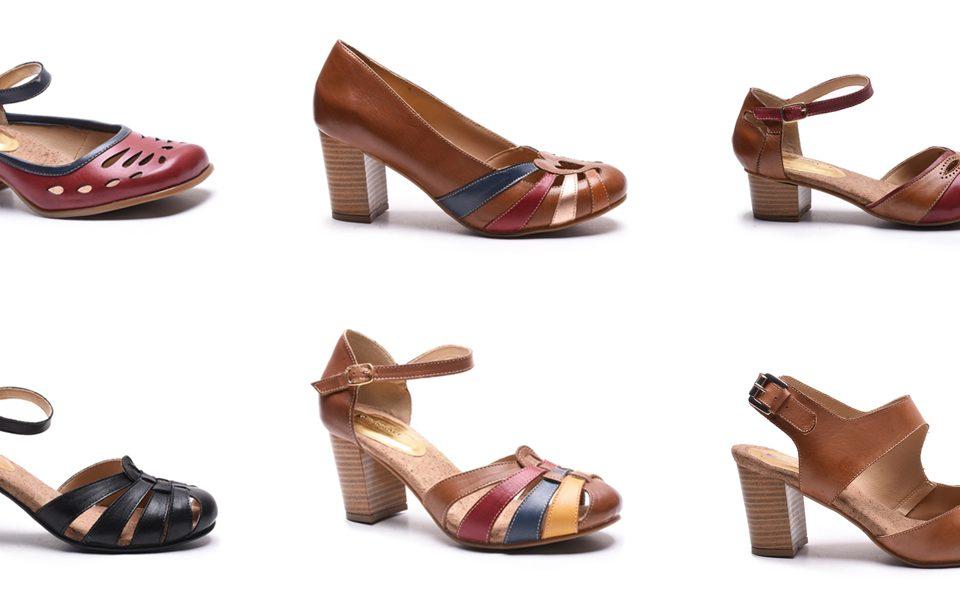 sapatos retrô femininos