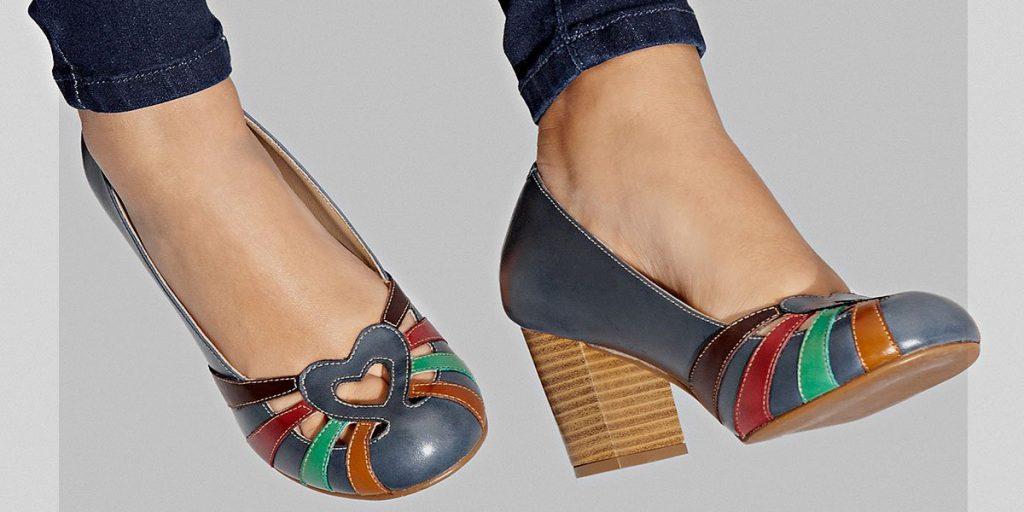 sapato retrô feminino: sapato