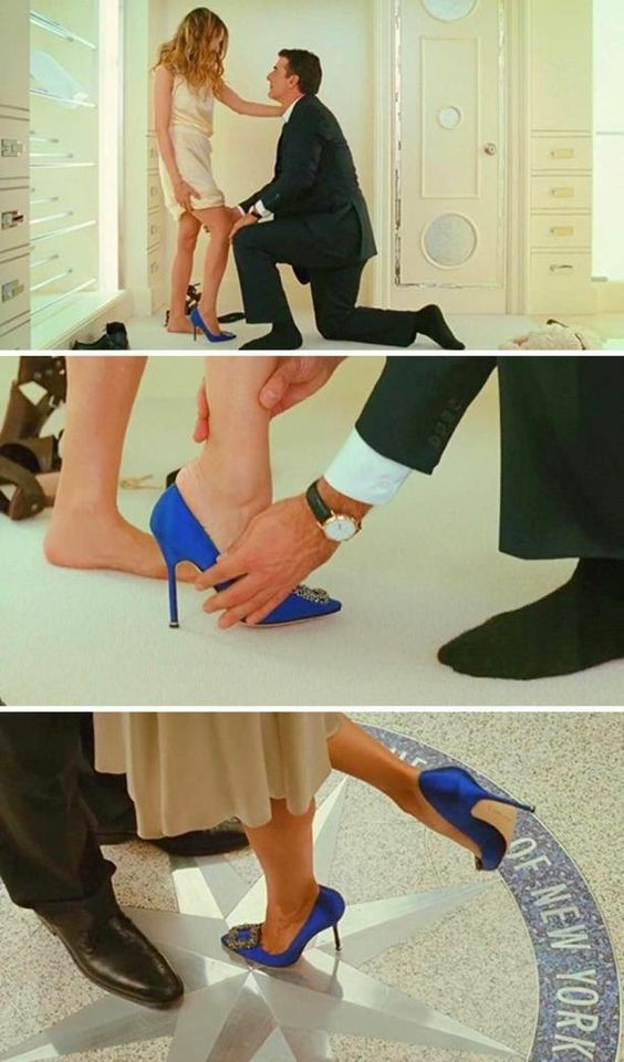 O Manolo Blahnik azul de Carrie Bradshaw em Sex and the City – o filme